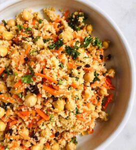 Chickpea Carrot Couscous Salad