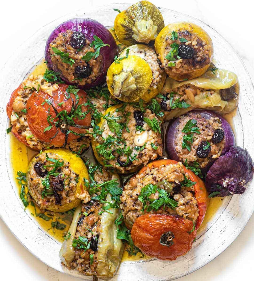 Vegan Greek Stuffed Vegetables (Gemista)