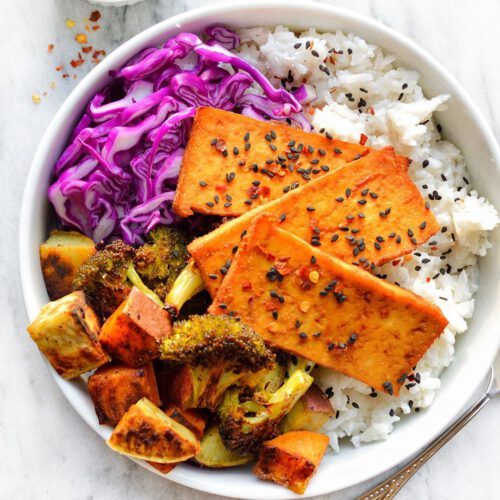 Ginger Garlic Tofu & Coconut Rice