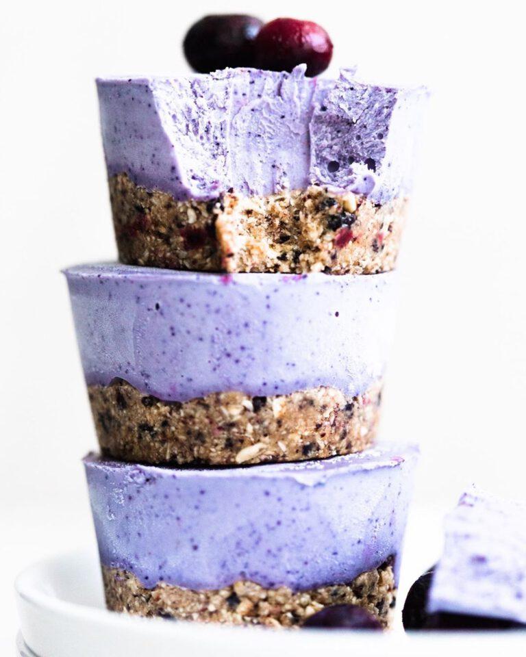 Raw Blueberry Cheesecake Bites