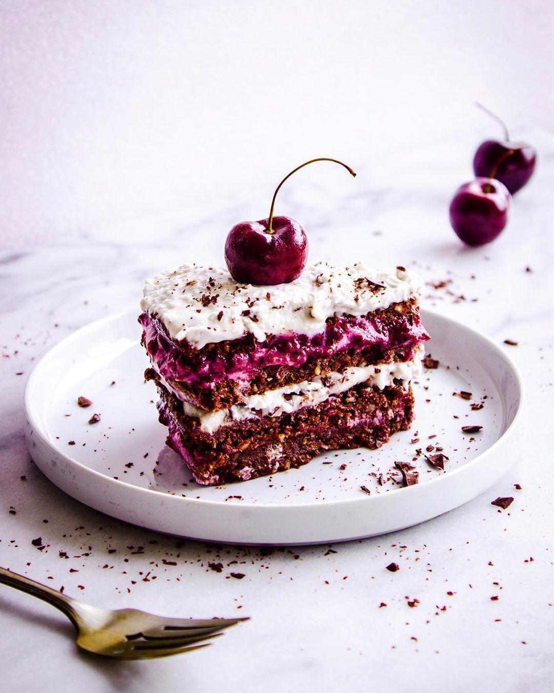 No-Bake Vegan Black Forest Cake