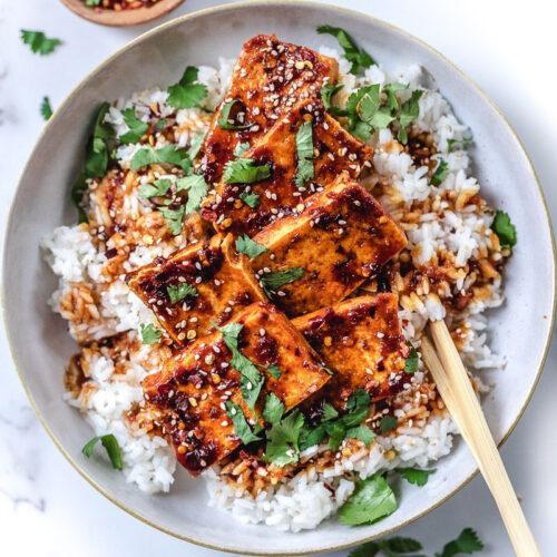 Crispy Pan Fried Unami Tofu