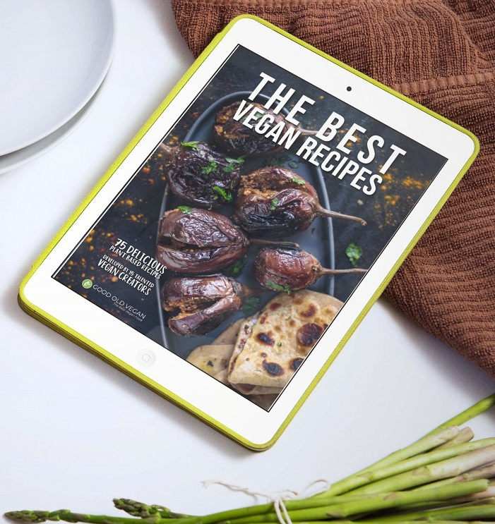 The Best Vegan Recipes eBook on iPad