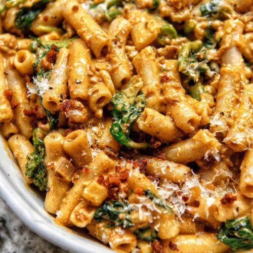 "Butternut Squash ""Meaty"" Mac & Cheese"