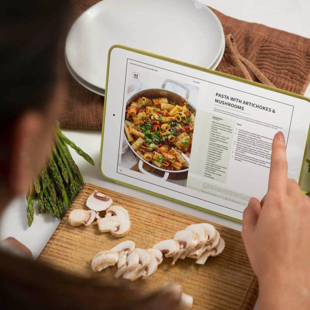 Pasta Recipe on iPad