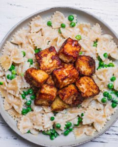 Creamy Coconut Pasta with Crispy Tofu