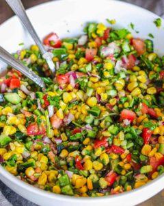 Easy Poblano Corn Salad