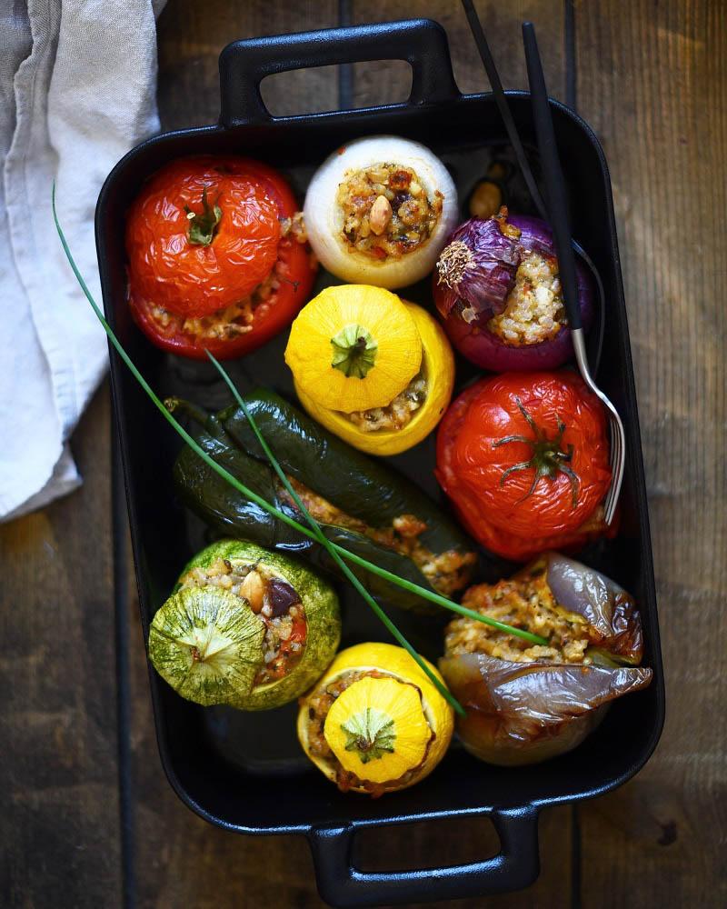 Vegan Greek Stuffed Vegetables (Gemista) Step 2