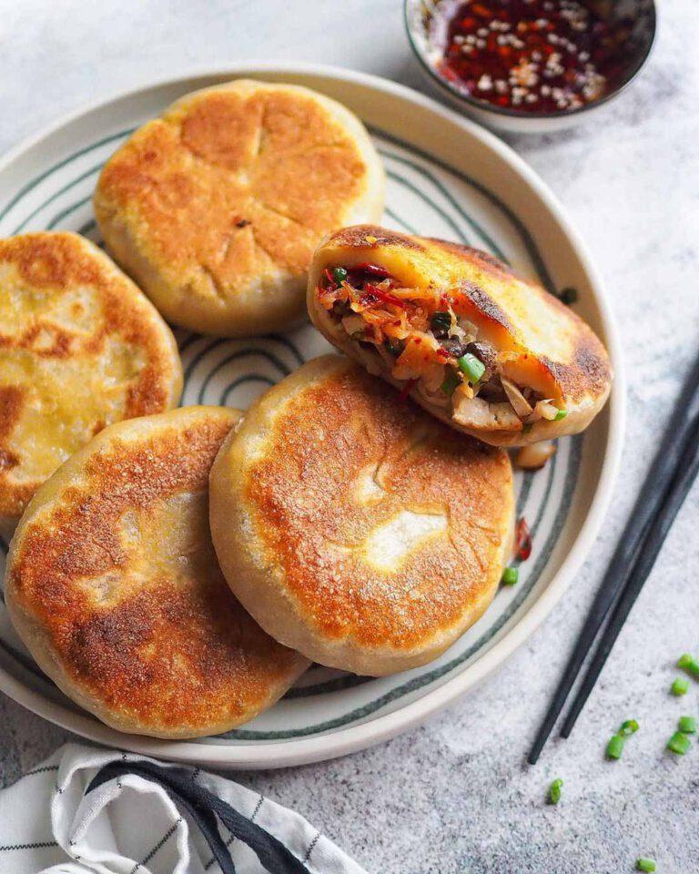 Vegan Pan Fried Radish Buns