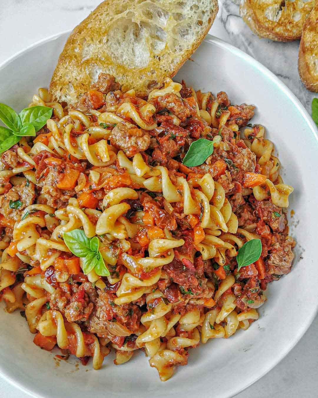Rotini with Vegan Ragu