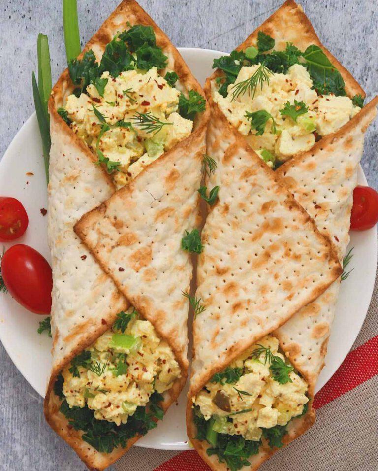 """""""No Egg"""" Salad Matzah Wraps"""