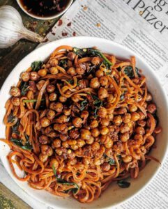 Sweet Potato Noodles & Crispy Chickpeas