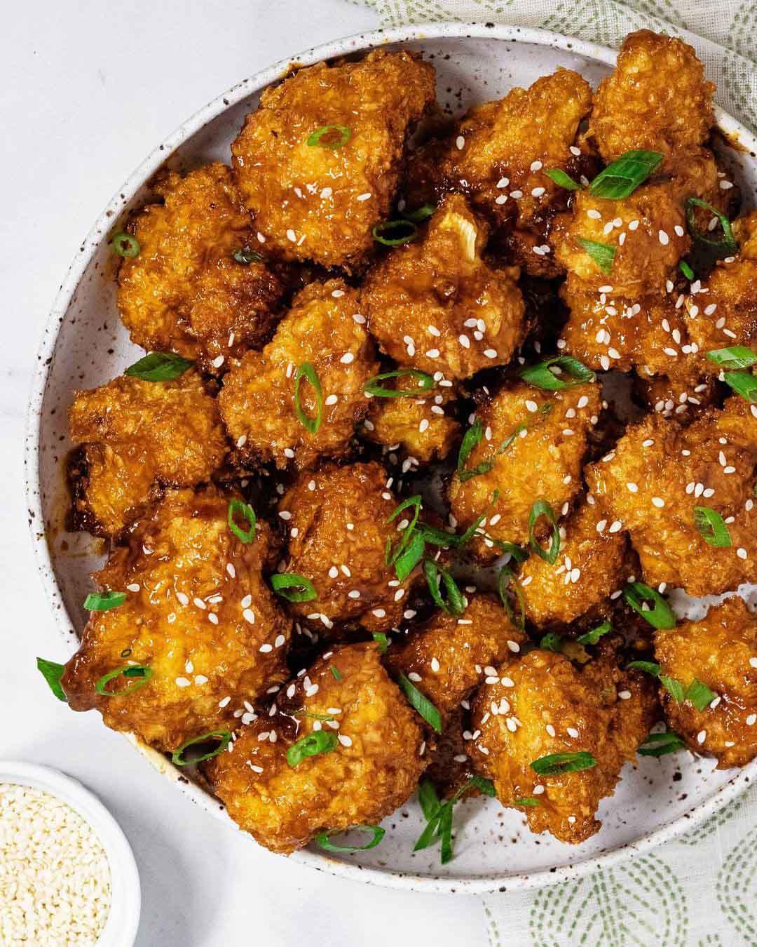 Vegan Teriyaki Cauliflower Wings