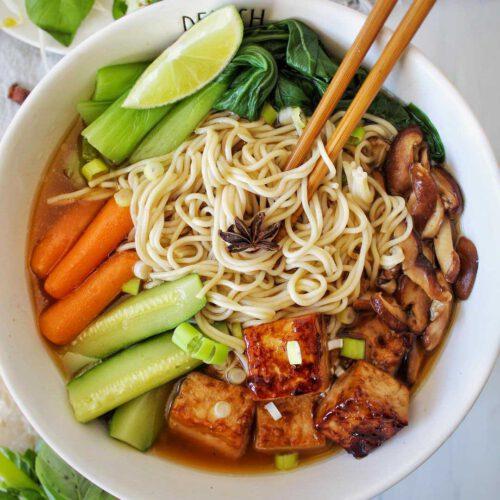 Vietnamese-Inspired Vegan Pho Bowl