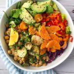 Warm Chickpea & Brussels Sprouts Couscous Salad