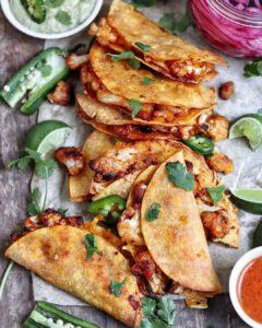 Crispy Bang Bang Cauliflower Tacos