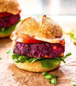 Easy Beet & Black Bean Burgers