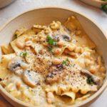One-Pot Mushroom and White Bean Pasta