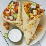 Roasted Cauliflower & Chickpea Shawarma Wrap