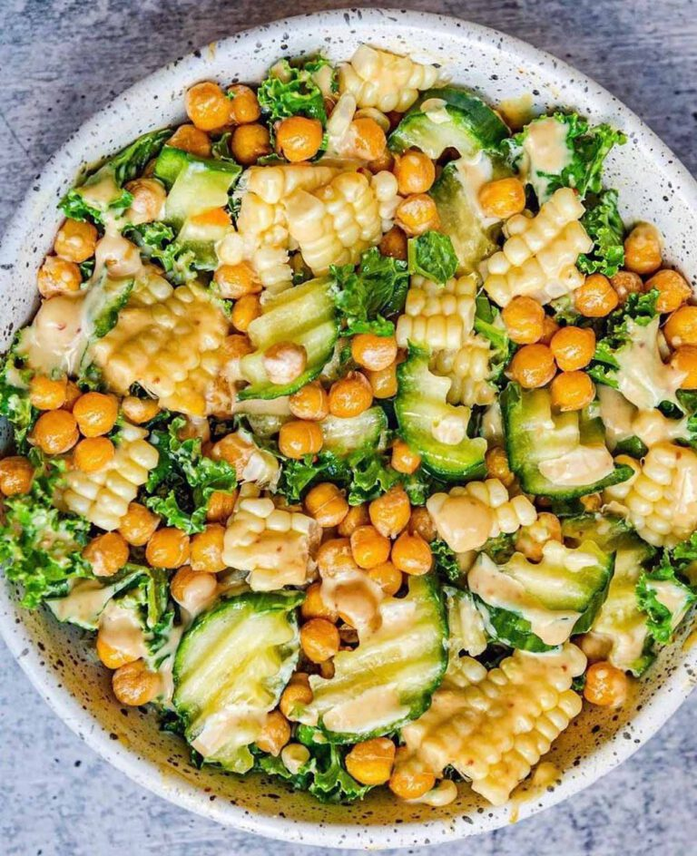 Roasted Chickpea Salad with Tangy Vegan Dressing