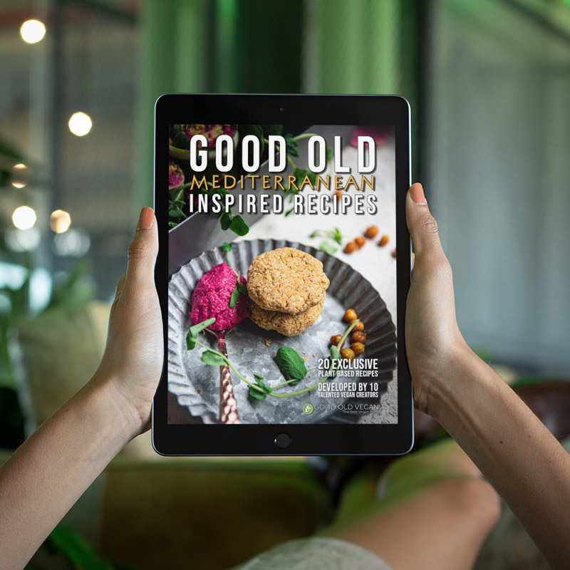 eBook Cover on iPad in Restaurant