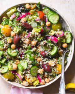 Mediterranean Quinoa Salad with Zaatar Vinaigrette