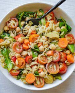 Orzo Salad with Oil-Free Pesto