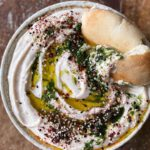 White Bean Dip with Dill Oil & Middle Eastern Style Everything Bagel Seasoning