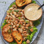 Two Bean Salad with Herby Tahini Dressing