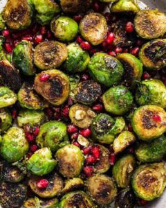 Charred Brussels Sprouts with Za'atar & Date Syrup recipe served.