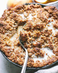 Oatmeal Cookie Apple Crisp recipe served in a bowl.